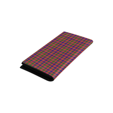 Image of MacIntyre Modern Tartan Wallet Women's Leather Thistle A91
