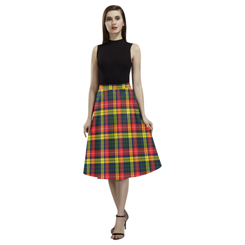 Image of Buchanan Modern Tartan Aoede Crepe Skirt | Exclusive Over 500 Tartan