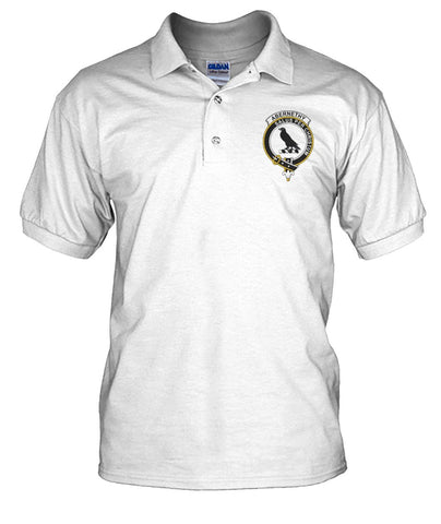 Abernethy Tartan Polo Shirt In Me Clan Badge | Scottishclans.co