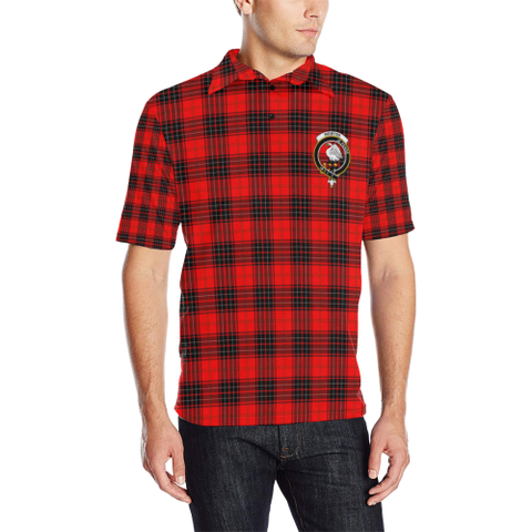 Wemyss Modern Tartan Clan Badge Polo Shirt