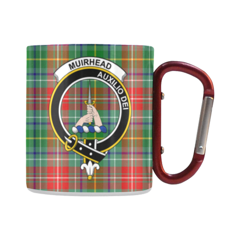 Muirhead Tartan Mug Classic Insulated - Clan Badge | scottishclans.co