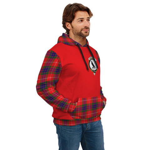Abernethy Clans Tartan All Over Hoodie - Sleeve Color
