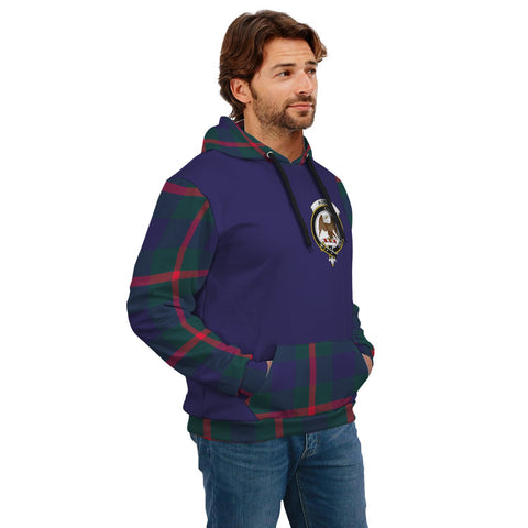Agnew Clans Tartan All Over Hoodie - Sleeve Color