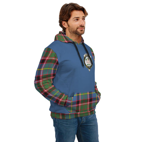 Image of Aikenhead Clans Tartan All Over Hoodie - Sleeve Color