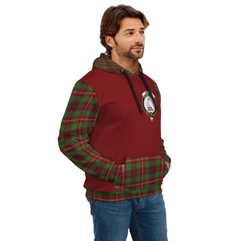 Ainslie Clans Tartan All Over Hoodie - Sleeve Color