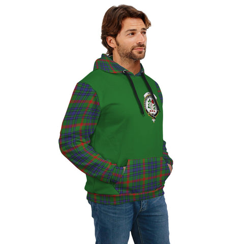 Aiton Clans Tartan All Over Hoodie - Sleeve Color