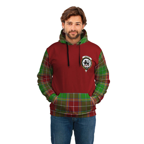 Image of Baxter Clans Tartan All Over Hoodie - Sleeve Color