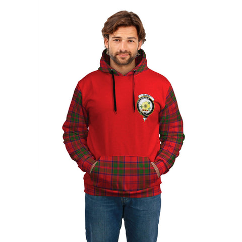 Cairns Clans Tartan All Over Hoodie - Sleeve Color