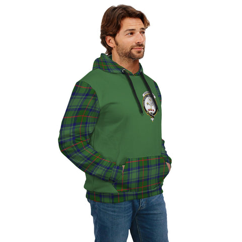 Image of Cranstoun Clans Tartan All Over Hoodie - Sleeve Color