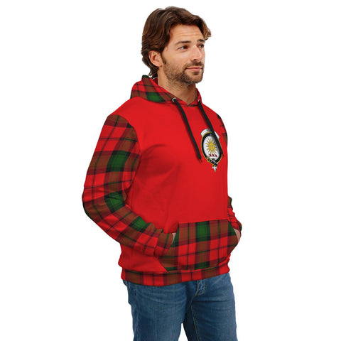 Kerr Clans Tartan All Over Hoodie - Sleeve Color