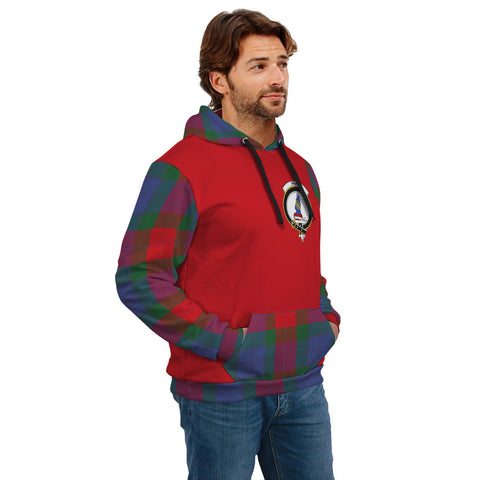 Mar Clans Tartan All Over Hoodie - Sleeve Color