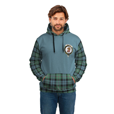 Melville Clans Tartan All Over Hoodie - Sleeve Color