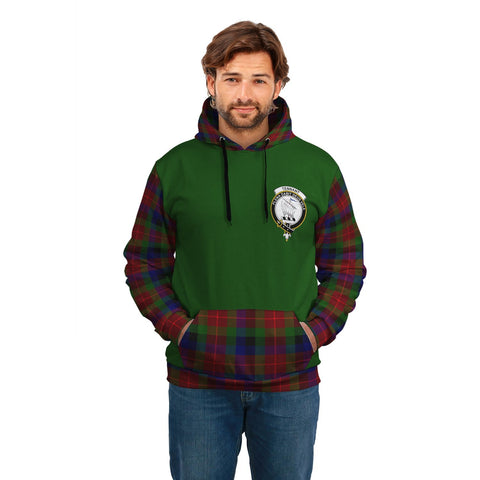 Tennant Clans Tartan All Over Hoodie - Sleeve Color