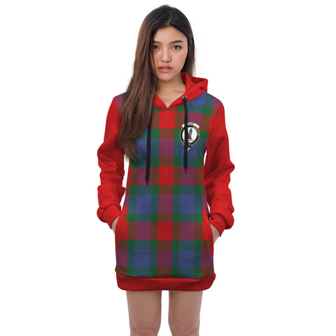 Hoodie Dress - Mar Crest Tartan Hooded Dress Sleeve Color