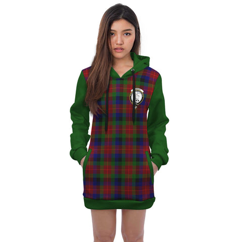 Hoodie Dress - Tennant Crest Tartan Hooded Dress Sleeve Color