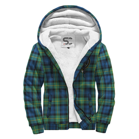 Image of Gordon Ancient Tartan Clan Crest AOP Sherpa Hoodie