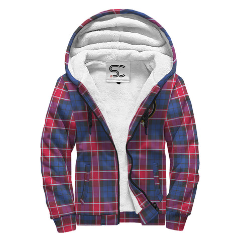 Graham of Menteith Red Tartan Clan Crest AOP Sherpa Hoodie