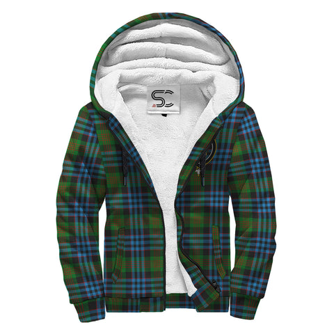 Image of Newlands of Lauriston Tartan Clan Crest AOP Sherpa Hoodie
