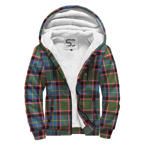 Stirling & Bannockburn District Tartan Clan Crest AOP Sherpa Hoodie