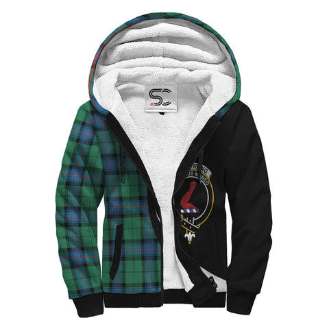Armstrong Ancient Tartan Clan Crest AOP Sherpa Hoodie Circle  Hj4
