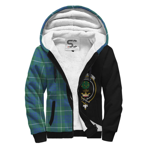 Image of Hamilton Hunting Ancient Tartan Clan Crest AOP Sherpa Hoodie Circle  Hj4