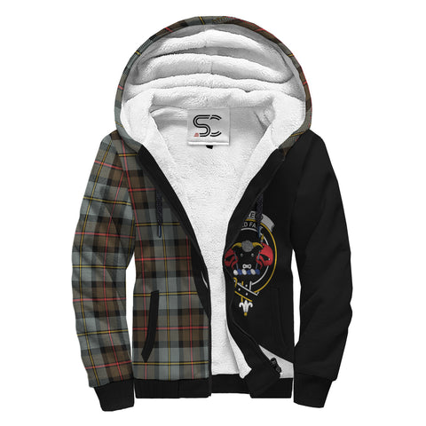 MacLeod of Harris Weathered Tartan Clan Crest AOP Sherpa Hoodie Circle  Hj4