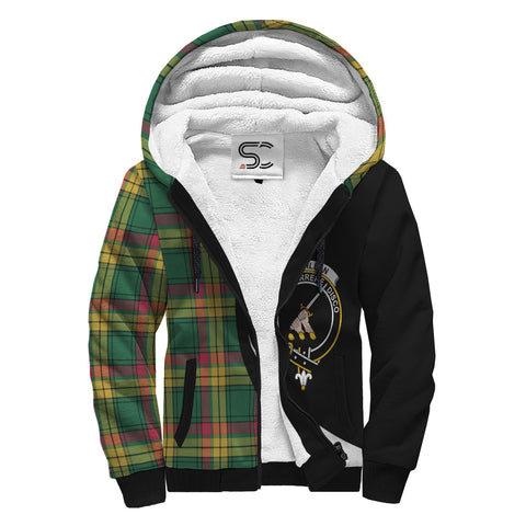 Image of MacMillan Old Ancient Tartan Clan Crest AOP Sherpa Hoodie Circle  Hj4