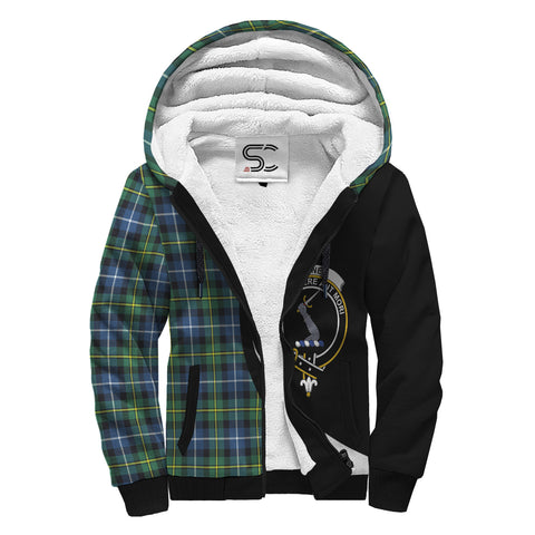 MacNeill of Barra Ancient Tartan Clan Crest AOP Sherpa Hoodie Circle  Hj4