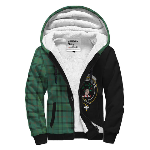 Ross Hunting Ancient Tartan Clan Crest AOP Sherpa Hoodie Circle  Hj4