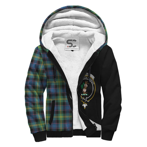 Image of Watson Ancient Tartan Clan Crest AOP Sherpa Hoodie Circle  Hj4