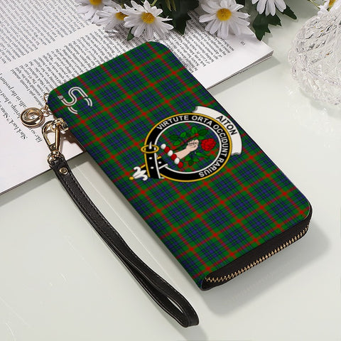 Image of Aiton Crest Tartan Zipper Wallet™
