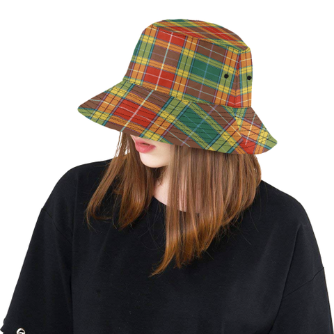 Image of Buchanan Old Sett Tartan Bucket Hat for Women and Men K7