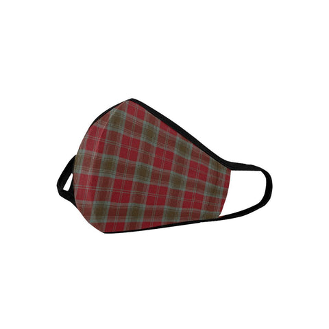 Image of Lindsay Weathered Tartan Mouth Mask With Filter | scottishclans.co