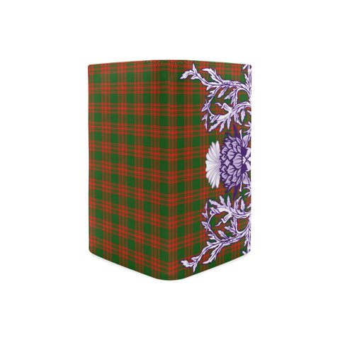 Image of Menzies Green Modern Tartan Wallet Women's Leather Thistle A91