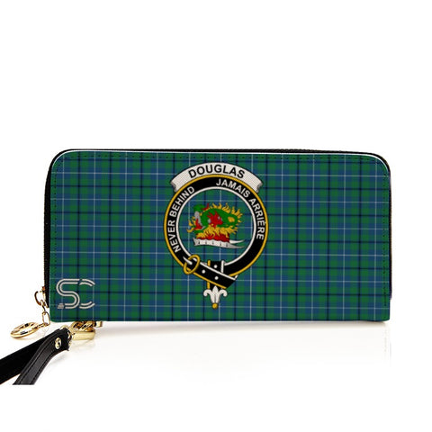 Douglas Ancient Crest Tartan Zipper Wallet