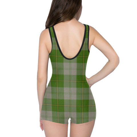 Image of Cunningham Dress Green Dancers - Classic Swimsuit | Hot Summer