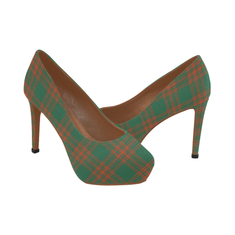 Menzies Green Ancient Tartan Heels