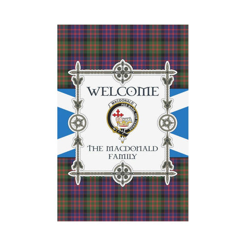 Macdonald Tartan Garden Flag - New Version | Scottishclans.co