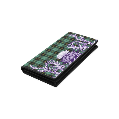 Wallace Hunting Ancient Tartan Wallet Women's Leather Wallet A91 | Over 500 Tartan