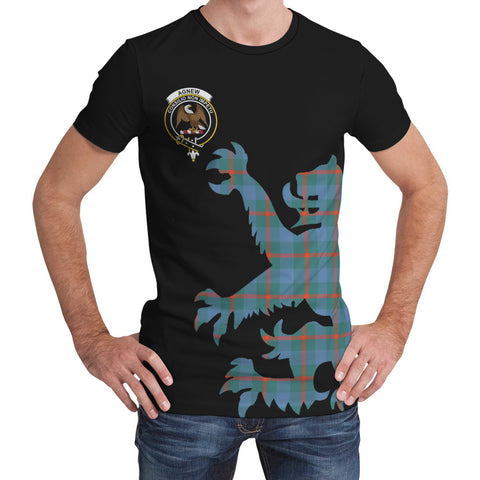 Agnew Ancient Tartan Clan Crest Lion & Thistle T-Shirt K6