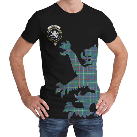 Inglis Ancient Tartan Clan Crest Lion & Thistle T-Shirt K6