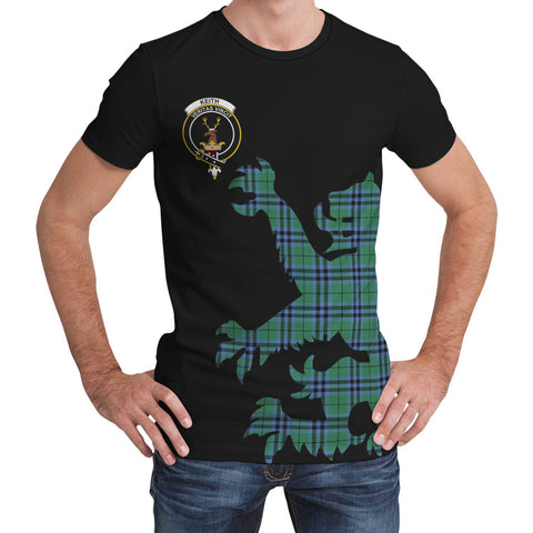 Keith Ancient Tartan Clan Crest Lion & Thistle T-Shirt K6