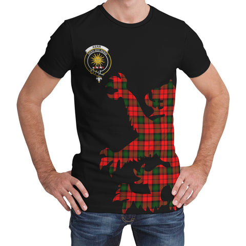 Image of Kerr Modern Tartan Clan Crest Lion & Thistle T-Shirt K6