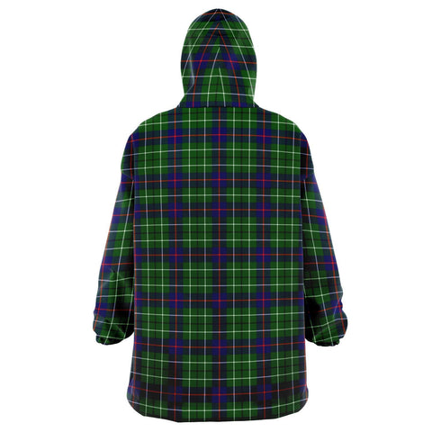 Image of Duncan Modern Snug Hoodie - Unisex Tartan Plaid Back