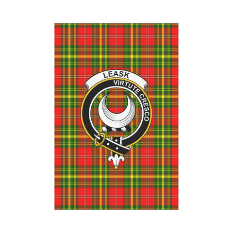 Leask Tartan Flag Clan Badge K7