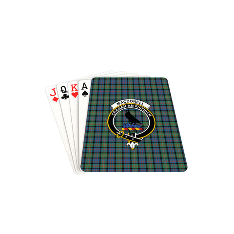 Image of MacDonnell of Glengarry Ancient Tartan Clan Badge Playing Card TH8