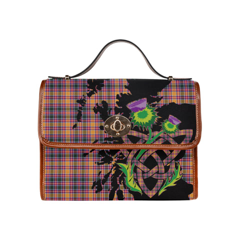 Jacobite Tartan Map & Thistle Waterproof Canvas Handbag| Hot Sale