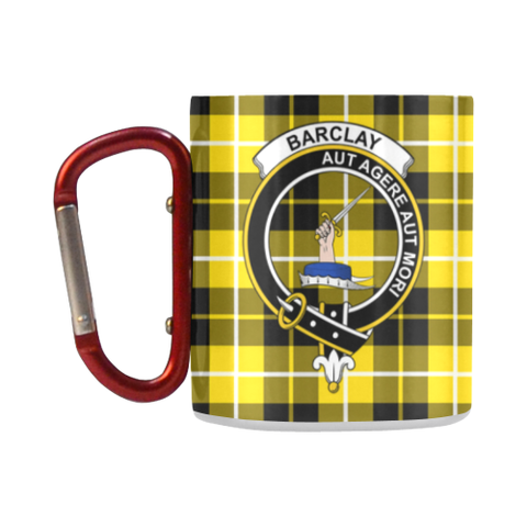 Barclay Dress Modern  Tartan Mug Classic Insulated - Clan Badge K7