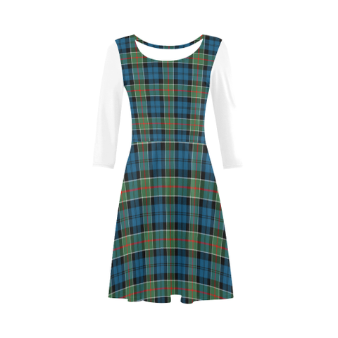 Colquhoun Ancient Tartan 3/4 Sleeve Sundress | Exclusive Over 500 Clans