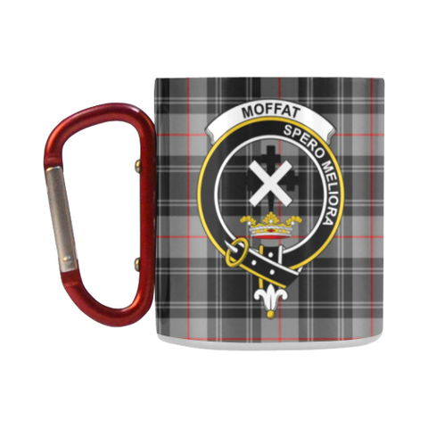Image of Moffat Modern Tartan Mug Classic Insulated - Clan Badge K7